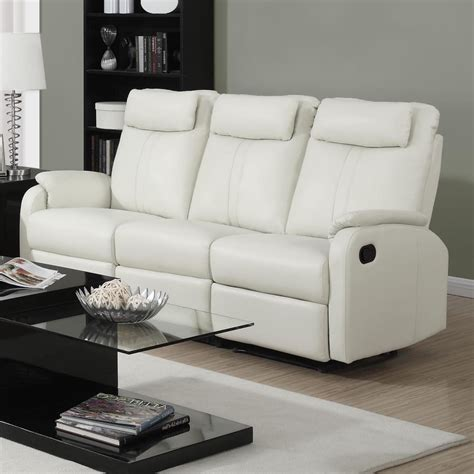 Loveseat Recliner by Monarch Specialties Reclining Sofa Ivory Bonded Leather