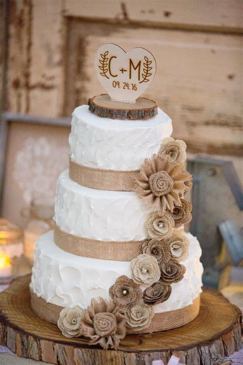 rustic wedding cake rustic wedding burlap cake cake