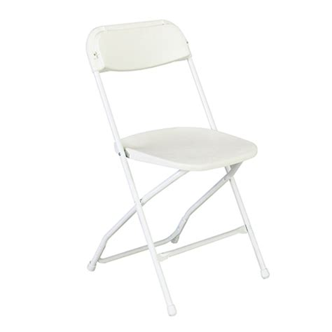 folding chair white samsonite all about events