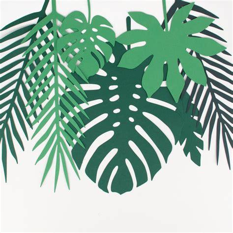 decoration paper decorations tropical leaves