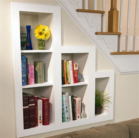the stairs bookcase under stairs shelves