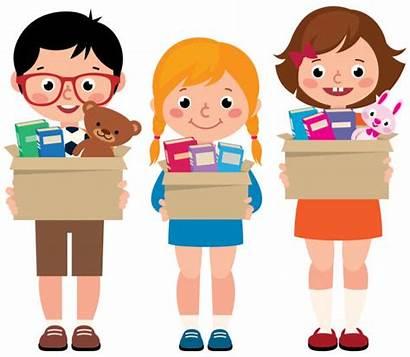 Donation Donations Children Hands Clip Boys Boxes