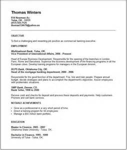 business banking resume objective 17 best images about resumes letters etc on
