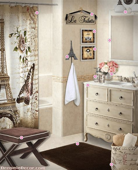 paris themed bathroom decor image mag