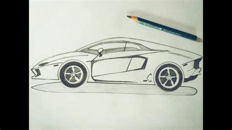 How To Draw Lamborghini Car Sketch Tutorial In Simple Easy