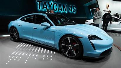Taycan 4s Porsche Paint Shows Striking Its