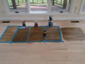 Staining Hardwood Floors Darker by Choosing Hardwood Floor Stain For Our Home From Left To