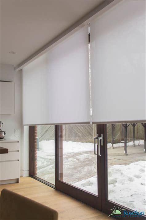 motorized blinds for large doors modern living room