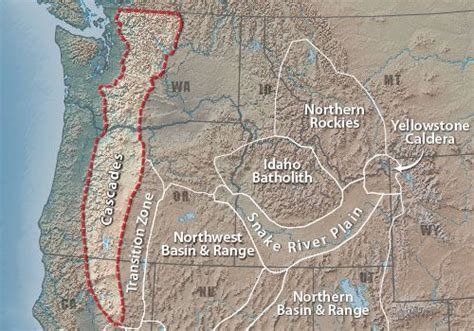 cascade mountain range map cascade range the cascade range is part of a vast