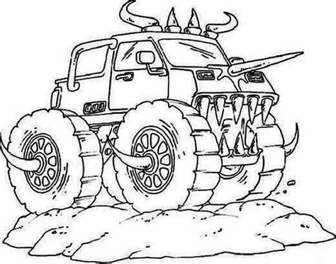 monster trucks coloring pages monster truck coloring pages coloringrocks sketch coloring