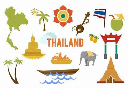 Thailand Vector Elements Map Bangkok Tour Thai