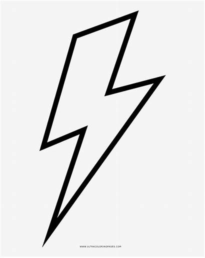 Lightning Bolt Coloring Pages Ultra Noun Pngkey