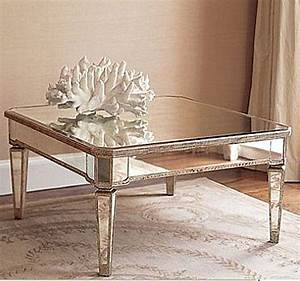 Coffee table elegant mirrored coffee table round mirror for Mirrored coffee table and end tables