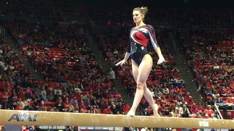 utah gymnastics tops arizona   block