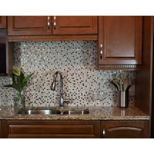 Stick On Kitchen Backsplash Tiles Smart Tiles Minimo Cantera 11 55 In W X 9 64 In H Peel And Stick Decorative Mosaic Wall Tile