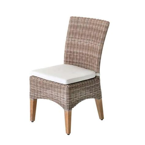 pin wicker dining chairs indoor rattan chair with cushion