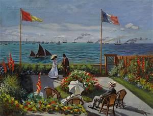 Garden at Sainte-Adresse - Claude Monet Paintings