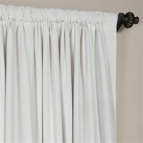 signature white wide velvet blackout curtains