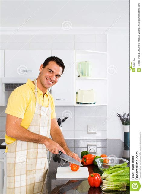 Chop House Kitchen by Man Cooking Stock Image Image Of Asparagus Chef Happy