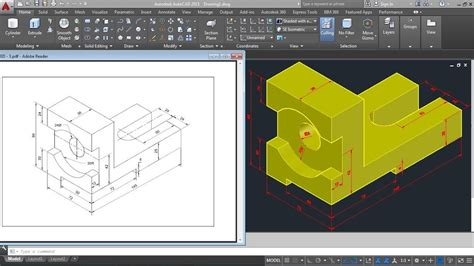 3d Home Design Tutorial Pdf by Autocad 2015 3d Mechanical Modeling Tutorial Autocad 3d