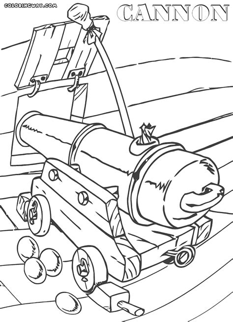cannon coloring pages coloring pages    print