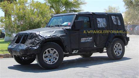 jl jeep diesel spy shots of 2018 jeep wrangler