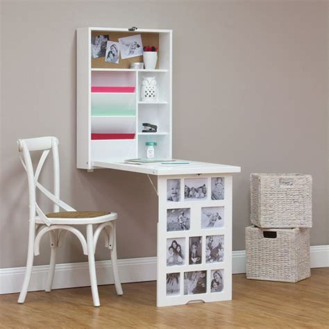 desk multi photo frames photo frame fold down multi storage desk white buy