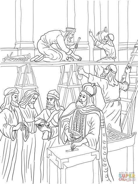 Building The Temple Coloring Pages Building The Temple Coloring Pages Coloring Pages