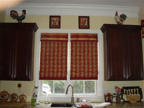 curtain valence hung inside the window frame inside the
