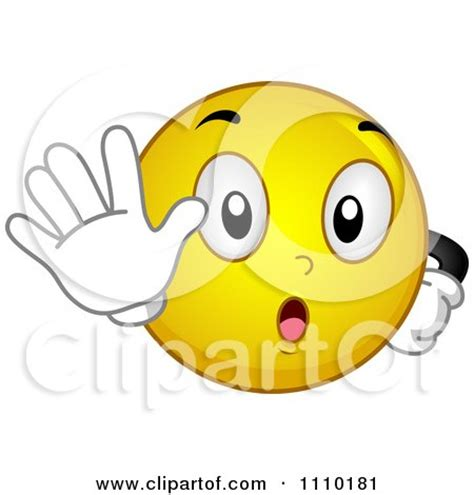 clipart yellow smiley gesturing  stop royalty