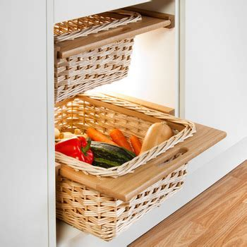 Oak Framed Wicker Baskets (Pair)   Clutterfree kitchens
