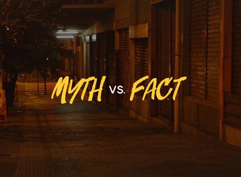 MYTH VS. FACT: 6 Common Myths About Prostitution and the ...