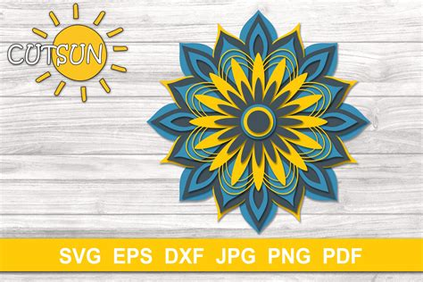 All over facebook craft good morning, all of my downloads include at least an svg file. Mandala SVG | 3D Layered Mandala SVG cut file 9 layers ...