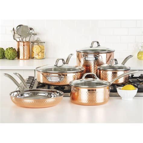viking  piece copper cookware set reviews birch lane