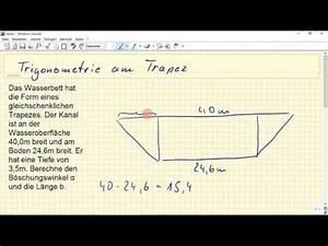 Höhe Eines Trapez Berechnen : trigonometrie gleichschenkliges trapez youtube ~ Themetempest.com Abrechnung