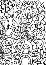 Coloring Abstract Doodle Pages Printable Kleurplaat Doodles Adults Drawing Books Medium Dot Categories York Paper sketch template