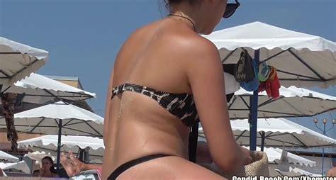 Sexy Ass Thong Bikini Teens At The Beach Spycam Voyeur Hd