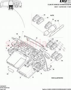 Aston Martin Dbs V12 Centre Stack Assembly Parts