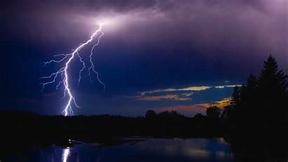 Lightning Wallpapers Night River