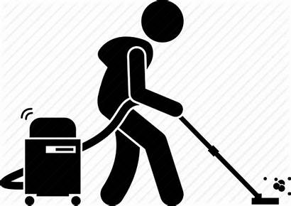 Vacuum Cleaner Cleaning Clipart Icon Person Khoon