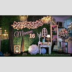 Sweet 16 Outdoor Theme Party  Tulips Event Management