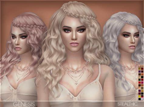 sims  hairs stealthic genesis hair