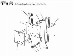 Defender Spare Wheel Carrier - Rovers North