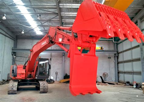 excavator hydraulic grabs