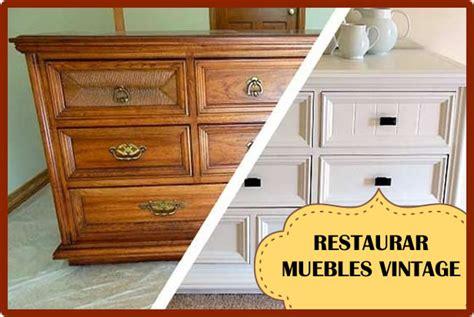 como restaurar un mueble con estilo vintage