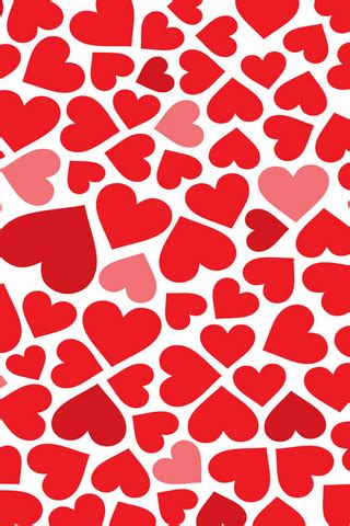 red hearts pattern iphone wallpaper mobile