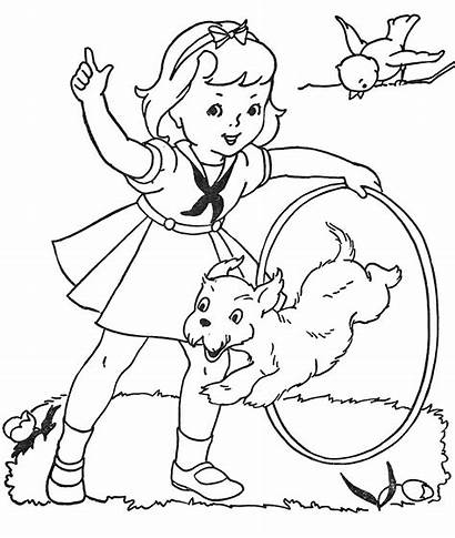Hoop Coloring Hula Pages Dog Paint Embroidery