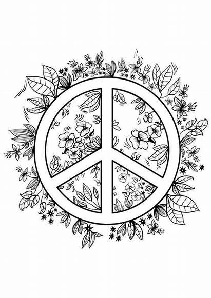 Coloring Peace Teens Printable Adult Teen Mandala