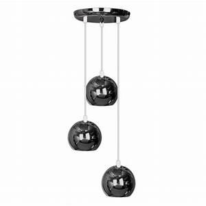 Lampen 24 Online Shop : moderne deckenleuchte pendelleuchte mit 3 h ngenden und kuppelf rmigen lampen im retrostil und ~ Bigdaddyawards.com Haus und Dekorationen