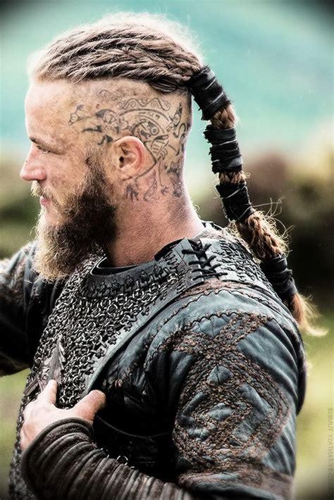 mens long hair shaved undercut viking hair viking